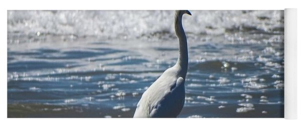 Egret And The Waves Yoga Mat