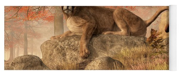 The Old Mountain Lion Yoga Mat