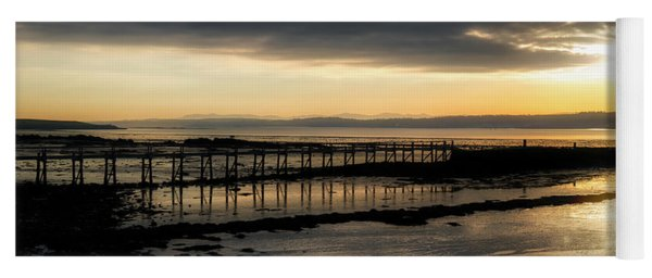 The Old Pier In Culross, Scotland Yoga Mat