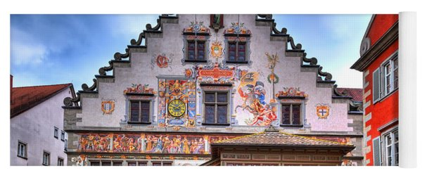 the old townhall on the island of Lindau at the Lake Constance Yoga Mat