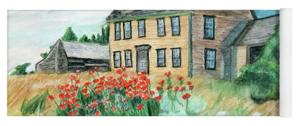 The Olson House With Poppies Yoga Mat