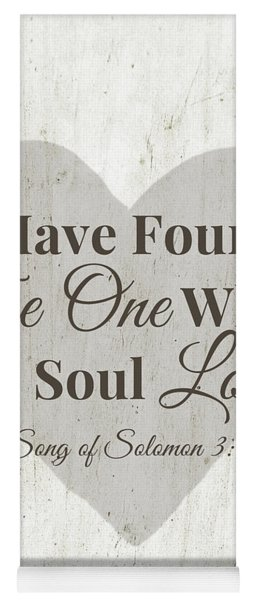 The One Whom My Sould Loves- Art By Linda Woods Yoga Mat