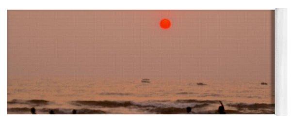 The Orange Moon Yoga Mat