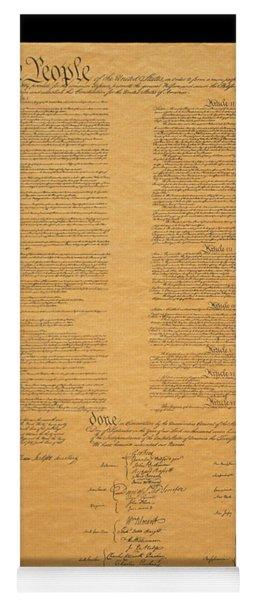 The Original United States Constitution Yoga Mat