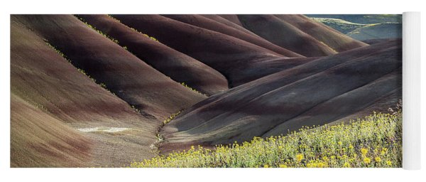 The Painted Hills In Bloom Yoga Mat