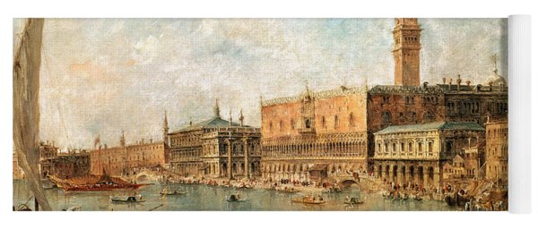 The Palace And The Molo From The Basin Of San Marco Yoga Mat