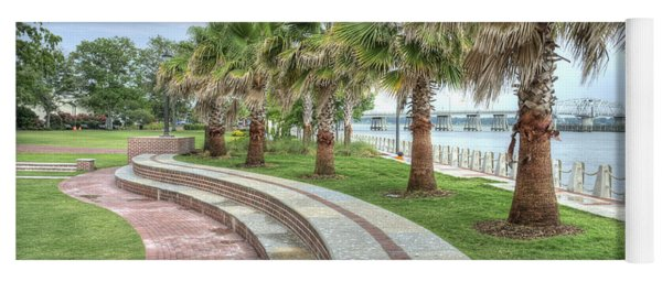 The Palms Of Water Front Park Yoga Mat