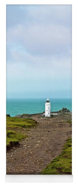 The Path To Godrevy Lighthouse Cornwall Yoga Mat
