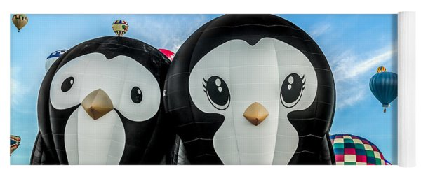 Puddles And Splash - The Penguin Hot Air Balloons Yoga Mat