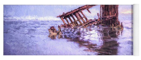 A Stormy Peter Iredale Yoga Mat