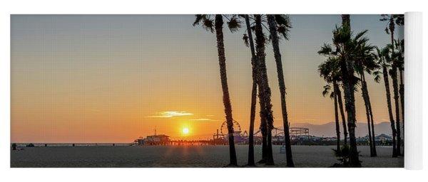 The Pier At Sunset Yoga Mat