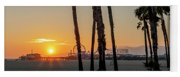 The Pier At Sunset - Square Yoga Mat