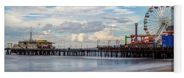 The Pier On A Cloudy Day Yoga Mat