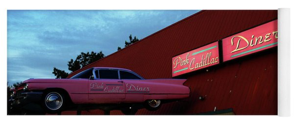The Pink Cadillac Diner Yoga Mat