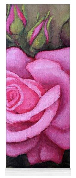 The Pink Dream Rose Yoga Mat