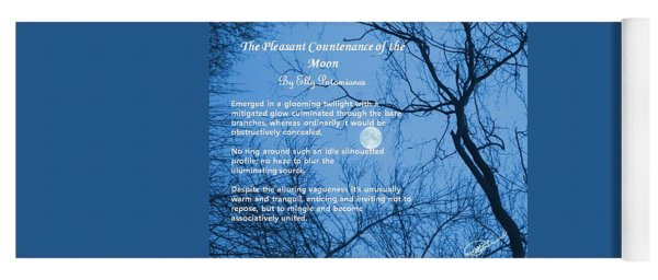 The Pleasant Countenance Of The Moon Yoga Mat