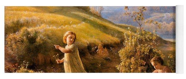 The Poem Of The Soul Spring Anne Francois Louis Janmot 1854. Yoga Mat