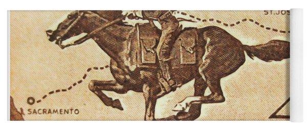 The Pony Express Centennial Stamp Yoga Mat
