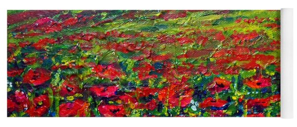The Poppy Fields Yoga Mat