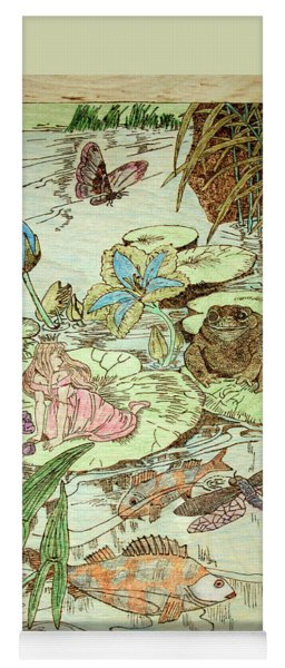 The Princess And The Frogs Yoga Mat