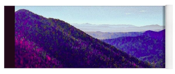 The Purple Mountains Majesty Yoga Mat