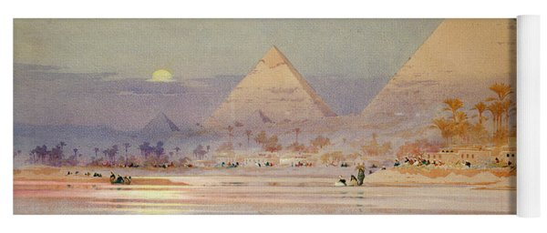 The Pyramids At Dusk Yoga Mat