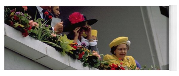 The Queen At Derby Day 1988 Yoga Mat