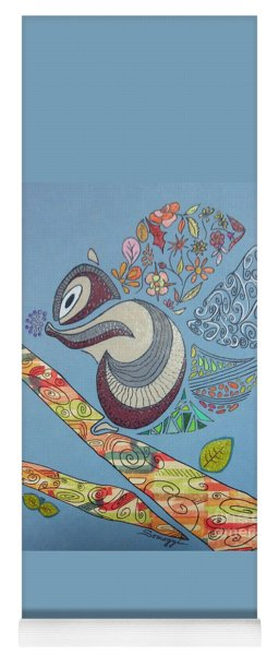 The Rare North American Flower-tailed Squirrel Yoga Mat