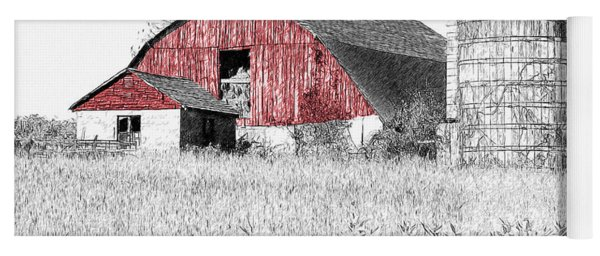 The Red Barn - Sketch 0004 Yoga Mat