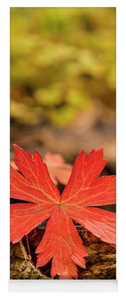 The Red Leaf Yoga Mat
