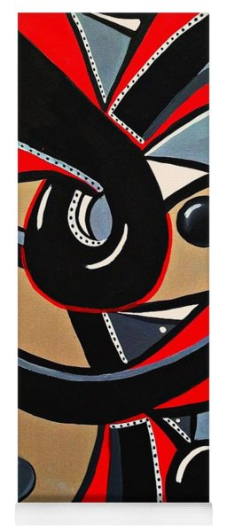 Red And Black Abstract Art Painting Yoga Mat