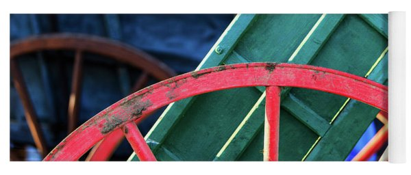 The Red Wagon Wheel Yoga Mat