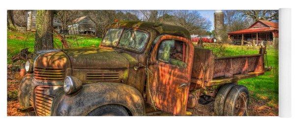 The Resting Place Boswell Farm 1947 Dodge Dump Truck Yoga Mat