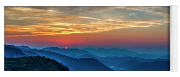 The Rising Sun Pretty Place Chapel Greenville S C Great Smoky Mountain Art Yoga Mat