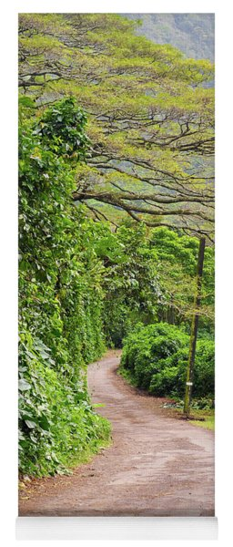 The Road Less Traveled-waipio Valley Hawaii Yoga Mat