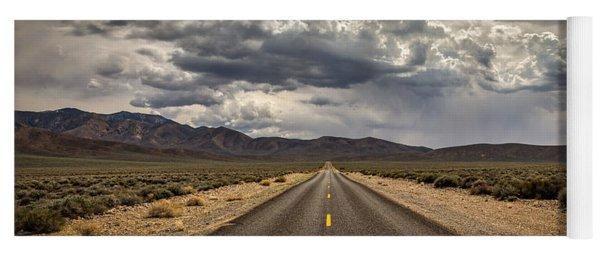 The Road To Death Valley Yoga Mat
