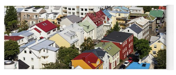 The Roofs Of Reykjavik Yoga Mat