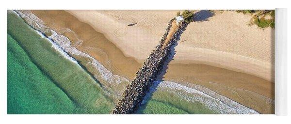 The Sea Wall Near Noosa Main Beach Yoga Mat