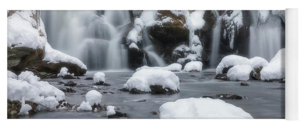 The Secret Waterfall In Winter 1 Yoga Mat