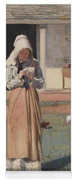 The Sick Chicken, 1874  Yoga Mat