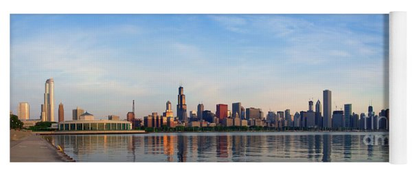 The Skyline Of Chicago At Sunrise Yoga Mat