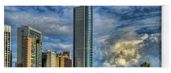 The Skyscraper And Low Clouds Dance Yoga Mat