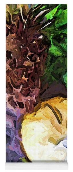 The Sleeping Cat And The Dead Tree Fern Yoga Mat