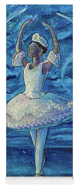 Yoga Mat featuring the painting The Snow Queen by TM Gand