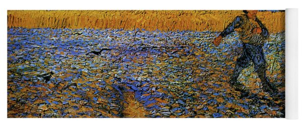 Yoga Mat featuring the painting The Sower by Van Gogh