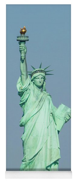 The Statue Of Liberty On Liberty Island In New York Harbor Yoga Mat