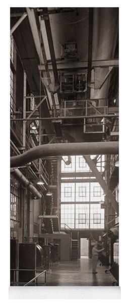 The Stegmaier Brewery Boiler Room Wilkes Barre Pennsylvania 1930's Yoga Mat
