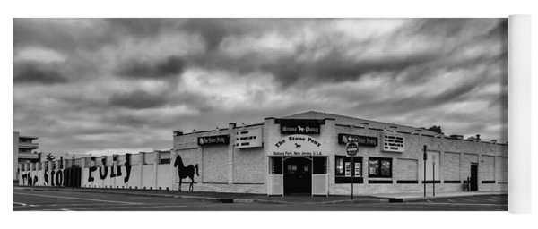 The Stone Pony Asbury Park New Jersey Black And White Yoga Mat