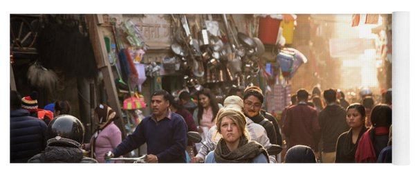 The Streets Of Kathmandu Yoga Mat