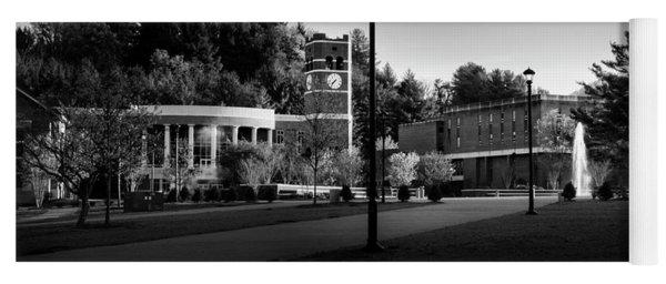 The Sun Rises On Western Carolina University In Black And White Yoga Mat